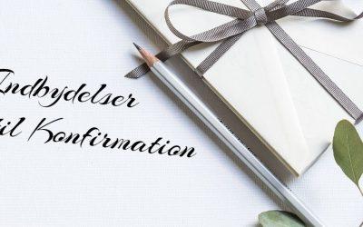 Indbydelser til konfirmation – Invitation til konfirmation