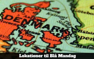 Lokationer til Blå Mandag 2020 [Opdelt i Regioner]